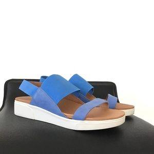 GENTLE SOULS LANSBURY blue leather/elastic sandals